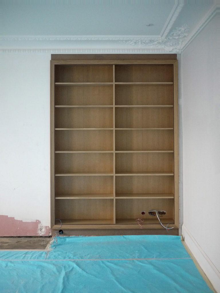 Fabrication Bibliothèque en chêne